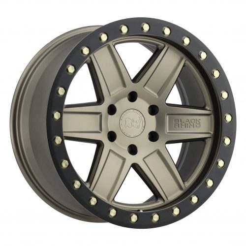 BLACK RHINO ATTICA 20×9.5 5/150 ET12 CB110.1 MATTE BRONZE W/BLACK LIP EDGE AND BRA