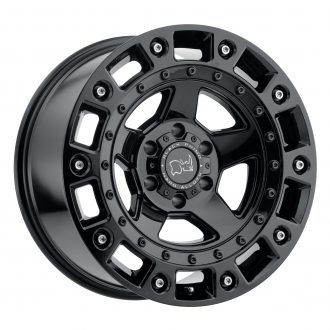 BLACK RHINO CINCO 20×9.5 6/139.7 ET12 CB112.1 GLOSS BLACK W/STAINLESS BOLT