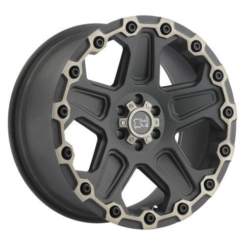 BLACK RHINO COG 20×9.5 5/150 ET12 CB110.1 MATTE BLACK W/MACHINE FACE AND DARK MATTE TINT