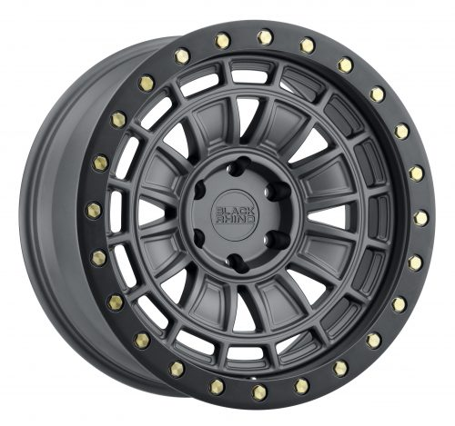 BLACK RHINO DALTON 20X9.5 6/139.7 ET12 CB112.1 MATTE GUNMETAL W/BLACK LIP EDGE AND