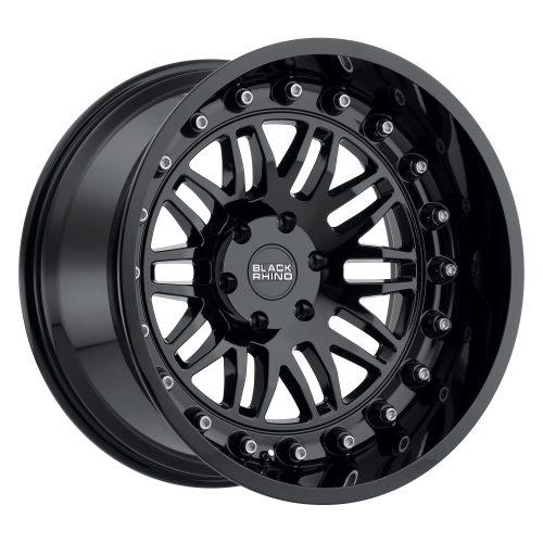 BLACK RHINO FURY 22X11.5 6/139.7 ET-44 CB112.1 GLOSS BLACK