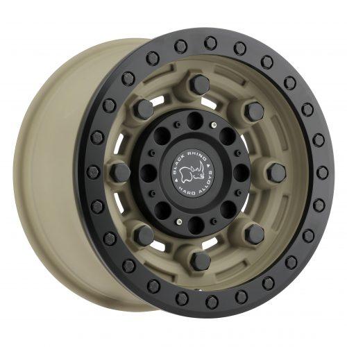 BLACK RHINO GARRISON BEADLOCK 17×8.5 6/139.7 ET00 CB112.1 DESERT W/MATTE BLACK LIP