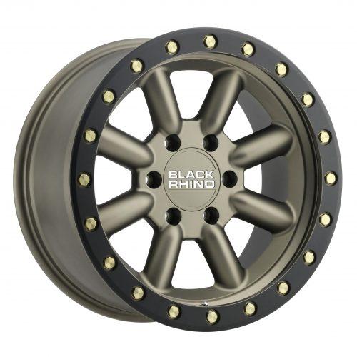 BLACK RHINO HACHI 18×9.0 5/150 ET12 CB110.1 BRONZE W/BLACK LIP EDGE AND BRASS BOLT