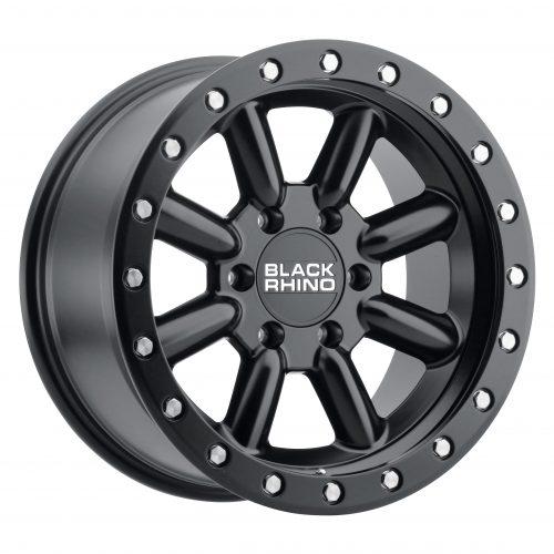 BLACK RHINO HACHI 18×9.0 6/139.7 ET12 CB112.1 MATTE BLACK W/SILVER BOLTS