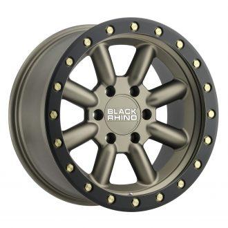 BLACK RHINO HACHI 18×9.0 6/139.7 ET12 CB112.1 BRONZE W/BLACK LIP EDGE AND BRASS BO