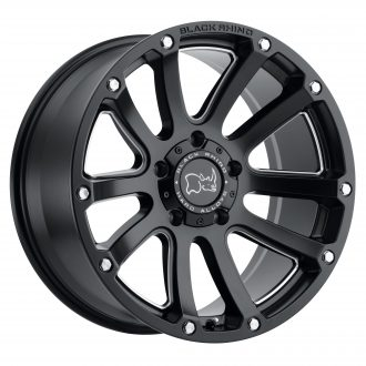 BLACK RHINO HIGHLAND 20×9.5 6/139.7 ET12 CB112.1 MATTE BLACK W/MILLED WINDOWS