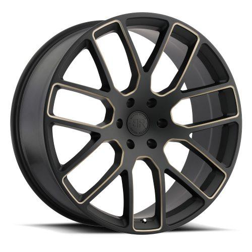 BLACK RHINO KUNENE 24×10 5/150 ET30 CB110.1 MATTE BLACK W/DARK TINT MILLED SPOKES