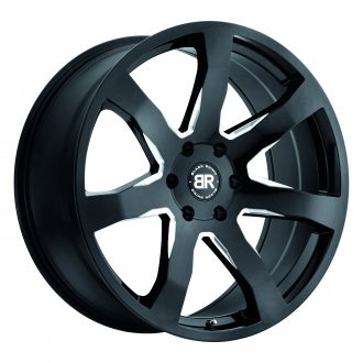 BLACK RHINO MOZAMBIQUE 24×10.0 6/139.7 ET25 CB112.1 GLOSS BLACK W/MILLED SPOKES