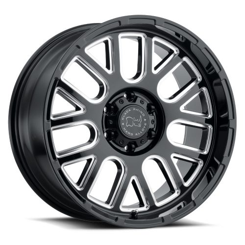 BLACK RHINO PISMO 22×12.0 6/139.7 ET-44 CB112.1 GLOSS BLACK W/MILLED SPOKES