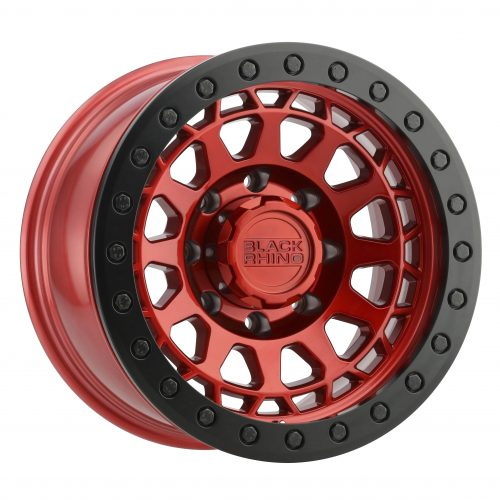 BLACK RHINO PRIMM BEADLOCK 17×8.5 6/139.7 ET00 CB112.1 CANDY RED W/BLACK RING AND