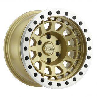 BLACK RHINO PRIMM BEADLOCK 17×8.5 5/127 ET-38 CB71.6 MATTE GOLD W/MACHINED RING
