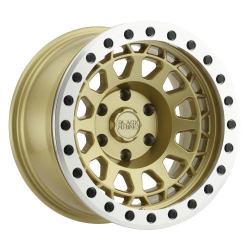 BLACK RHINO PRIMM BEADLOCK 17×8.5 6/139.7 ET00 CB112.1 MATTE GOLD W/MACHINED RIN