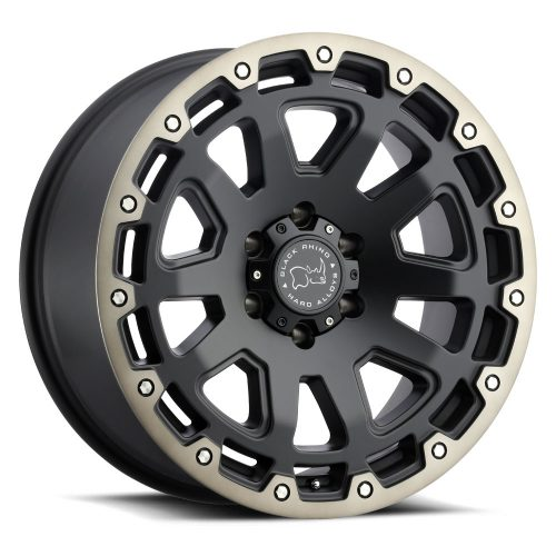 BLACK RHINO RAZORBACK 18×9.0 6/135 ET12 CB87.1 MATTE BLACK W/MACHINE DARK TINT LIP