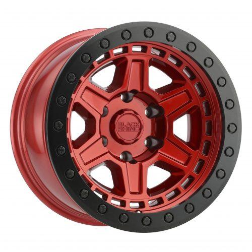 BLACK RHINO RENO 20×9.5 6/139.7 ET12 CB112.1 CANDY RED W/BLACK LIP EDGE AND BLACK
