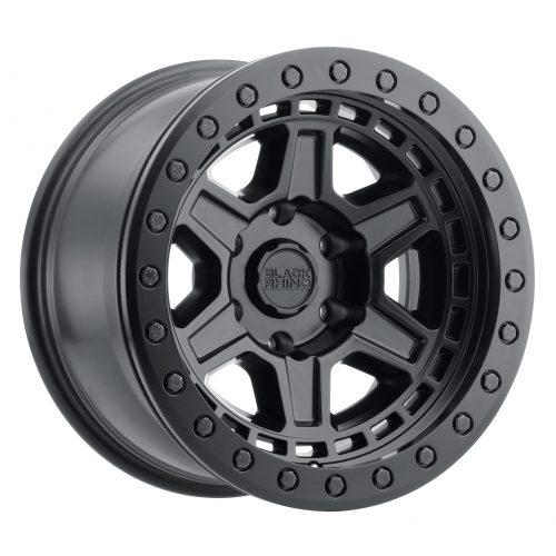 BLACK RHINO RENO 20×9.5 5/150 ET12 CB110.1 MATTE BLACK W/BRASS BOLTS