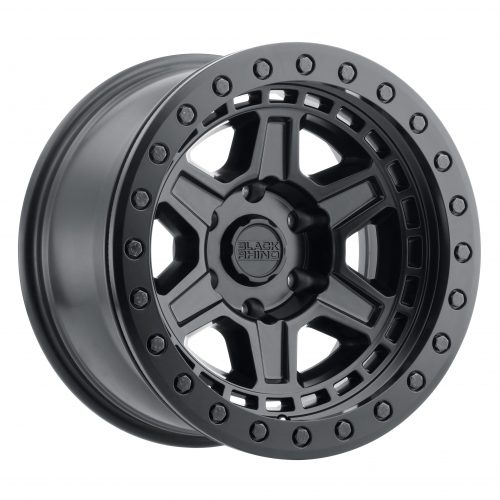 BLACK RHINO RENO 20×9.5 6/139.7 ET12 CB112.1 MATTE BLACK W/BRASS BOLTS