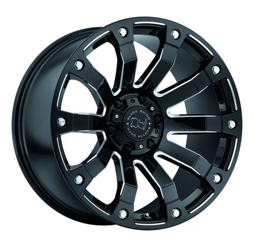 BLACK RHINO SELKIRK 20×10.0 5/150 ET00 CB110.1 GLOSS BLACK MILLED