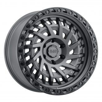 BLACK RHINO SHREDDER 20×9.5 5/127 ET00 CB71.6 MATTE GUNMETAL W/BLACK LIP EDGE AND