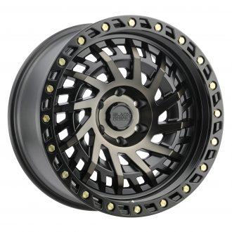 BLACK RHINO SHREDDER 20×9.5 6/139.7 ET12 CB112.1 MATTE BLACK W/MACHINED DARK TIN