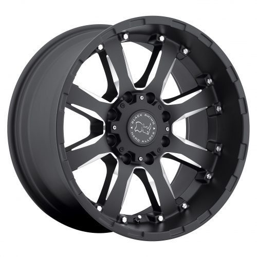BLACK RHINO SIERRA 20×10.0 8/170 ET-23 CB125.1 GLOSS BLACK W/MILLED SPOKES