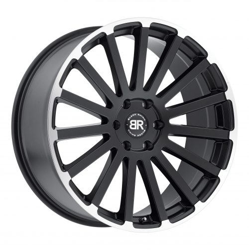 BLACK RHINO SPEAR 24×10.0 5/150 ET30 CB110.1 MATTE BLACK W/MATTE MACHINE LIP EDGE
