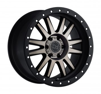 BLACK RHINO TANAY 20×10.0 6/139.7 ET-12 CB112.1 MATTE BLACK W/MACHINE FACE AND DARK MATTE TINT