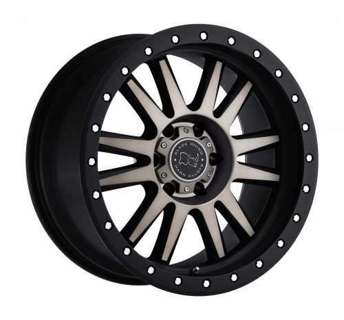 BLACK RHINO TANAY 20×9.0 8/170 ET-12 CB125.1 MATTE BLACK W/MACHINE FACE AND DARK MATTE TINT