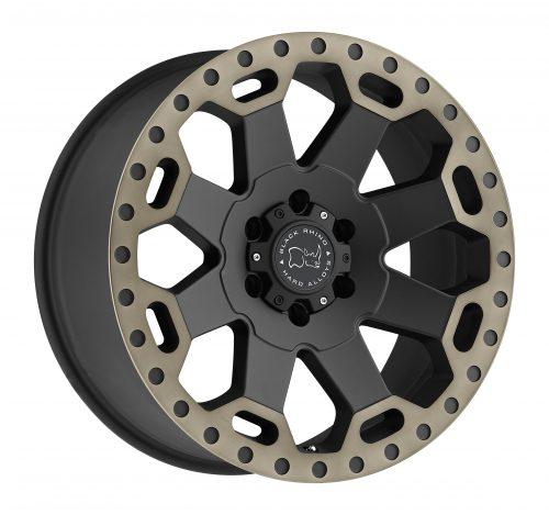 BLACK RHINO WARLORD 22×10.0 6/139.7 ET12 CB112.1 MATTE BLACK W/MACHINE DARK TINT LIP