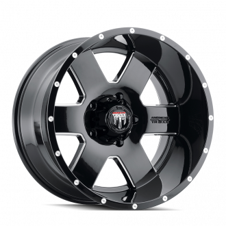 AMERICAN TRUXX AT155-18927M-12 AMERICAN TRUXX ARMOR AT155 BLACK/MILLED 18X9 5-139.7 -12MM 87.1MM WHEELS