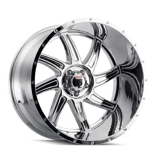 AMERICAN TRUXX AT162-241427C AMERICAN TRUXX VORTEX AT162 CHROME 24X14 5-139.7 -76MM 87.1MM WHEELS