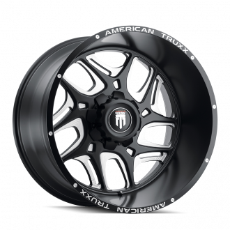 AMERICAN TRUXX AT1900-20942M AMERICAN TRUXX SWEEP AT1900 BLACK/MILLED 20X9 5-139.7 -12MM 110.3MM WHEELS