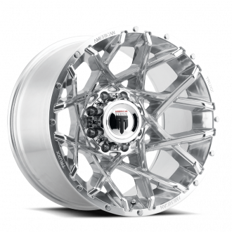 AMERICAN TRUXX AT1901-21291P AMERICAN TRUXX GRIDLOCK AT1901 POLISHED 20X12 8-165.1 -44MM 125.2MM WHEELS