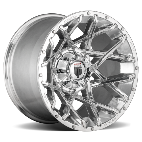 AMERICAN TRUXX AT1901-21291P-BL AMERICAN TRUXX GRIDLOCK AT1901 POLISHED/BEADLOCK 20X12 8-165.1 -44MM 125.2MM WHEELS