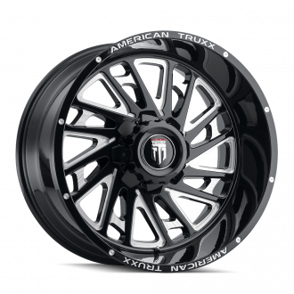 AMERICAN TRUXX AT1905-241483M AMERICAN TRUXX BLADE AT1905 BLACK/MILLED 24X14 6-139.7 -76MM 106.1MM WHEELS