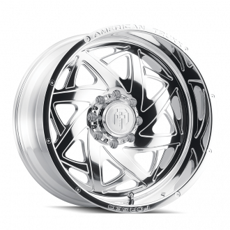 AMERICAN TRUXX FORGED ATF1910-241483P KRONOS AMERICAN TRUXX FORGED KRONOS ATF1910 POLISHED 24X14 6-139.7 -76MM 106.1MM WHEELS