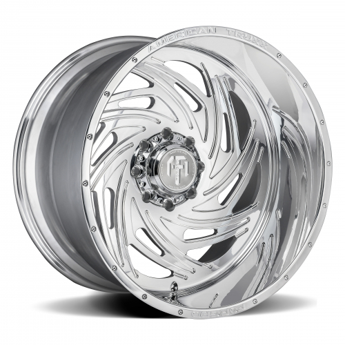 AMERICAN TRUXX FORGED ATF1911-221291P TWISTED AMERICAN TRUXX FORGED TWISTED ATF1911 POLISHED 22X12 8-165.1 -44MM 125.2MM WHEELS