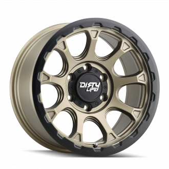 DIRTY LIFE DIRTY LIFE DRIFTER 9307 MATTE GOLD W/ MATTE BLACK LIP 17X8.5 6-139.7 -6MM 87.1MM WHEELS
