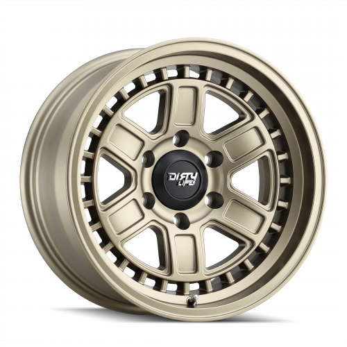 DIRTY LIFE DIRTY LIFE CAGE 9308 MATTE GOLD 17X8.5 6-139.7 -6MM 106MM WHEELS