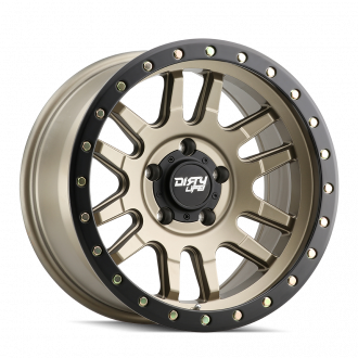 DIRTY LIFE DIRTY LIFE CANYON PRO 9309 SATIN GOLD/BLACK LIP 17X9 5-139.7 0MM 108.1MM WHEELS