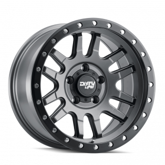 DIRTY LIFE DIRTY LIFE CANYON PRO 9309 SATIN GRAPHITE/BLACK LIP 17X9 5-139.7 0MM 108.1MM WHEELS
